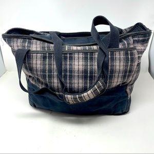 Stormy Kromer Tote Bag Reversible Wool Black Gray